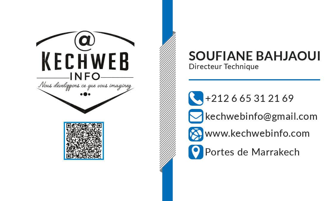 carte visite kechweb info